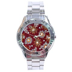 India Traditional Fabric Stainless Steel Analogue Watch