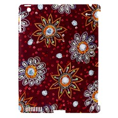 India Traditional Fabric Apple iPad 3/4 Hardshell Case (Compatible with Smart Cover)