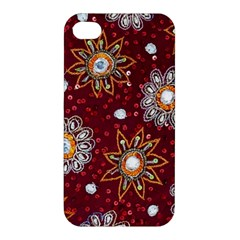 India Traditional Fabric Apple iPhone 4/4S Premium Hardshell Case