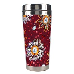 India Traditional Fabric Stainless Steel Travel Tumblers