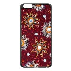 India Traditional Fabric Apple iPhone 6 Plus/6S Plus Black Enamel Case