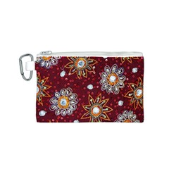 India Traditional Fabric Canvas Cosmetic Bag (S)