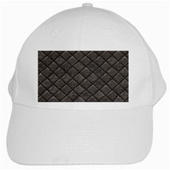 Seamless Leather Texture Pattern White Cap