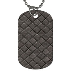 Seamless Leather Texture Pattern Dog Tag (One Side)