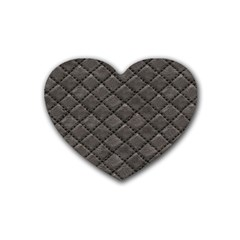 Seamless Leather Texture Pattern Rubber Coaster (Heart)