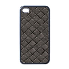 Seamless Leather Texture Pattern Apple iPhone 4 Case (Black)