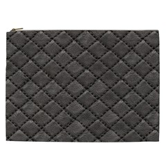 Seamless Leather Texture Pattern Cosmetic Bag (XXL)