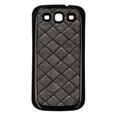 Seamless Leather Texture Pattern Samsung Galaxy S3 Back Case (Black)