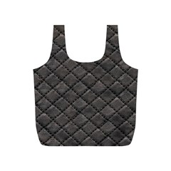 Seamless Leather Texture Pattern Full Print Recycle Bags (S)