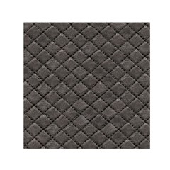 Seamless Leather Texture Pattern Small Satin Scarf (Square)