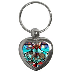 Elephant Stained Glass Key Chains (Heart)