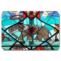 Elephant Stained Glass Large Doormat