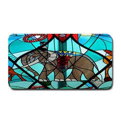 Elephant Stained Glass Medium Bar Mats