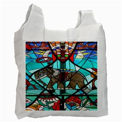 Elephant Stained Glass Recycle Bag (One Side)
