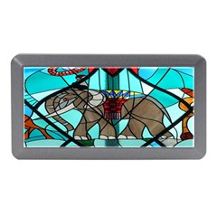 Elephant Stained Glass Memory Card Reader (Mini)