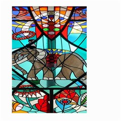 Elephant Stained Glass Large Garden Flag (Two Sides)