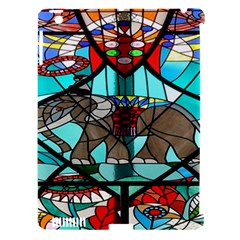 Elephant Stained Glass Apple iPad 3/4 Hardshell Case (Compatible with Smart Cover)