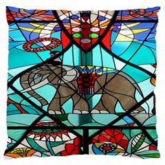 Elephant Stained Glass Large Cushion Case (Two Sides)