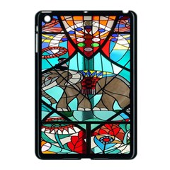 Elephant Stained Glass Apple iPad Mini Case (Black)