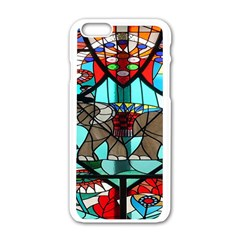 Elephant Stained Glass Apple iPhone 6/6S White Enamel Case