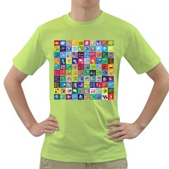 Exquisite Icons Collection Vector Green T-Shirt