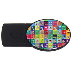 Exquisite Icons Collection Vector USB Flash Drive Oval (2 GB)