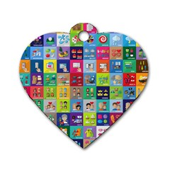 Exquisite Icons Collection Vector Dog Tag Heart (One Side)