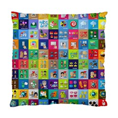 Exquisite Icons Collection Vector Standard Cushion Case (One Side)