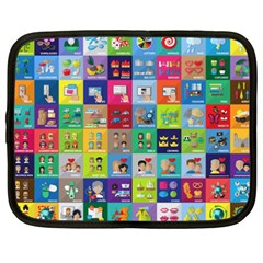 Exquisite Icons Collection Vector Netbook Case (XXL)