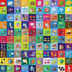 Exquisite Icons Collection Vector Magic Photo Cubes