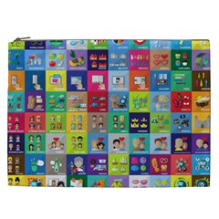 Exquisite Icons Collection Vector Cosmetic Bag (XXL)