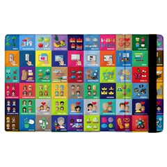 Exquisite Icons Collection Vector Apple iPad 3/4 Flip Case