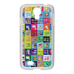 Exquisite Icons Collection Vector Samsung GALAXY S4 I9500/ I9505 Case (White)