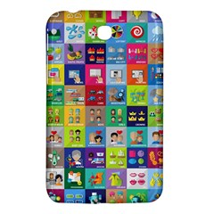 Exquisite Icons Collection Vector Samsung Galaxy Tab 3 (7 ) P3200 Hardshell Case