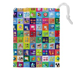 Exquisite Icons Collection Vector Drawstring Pouches (XXL)