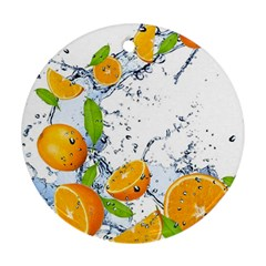 Fruits Water Vegetables Food Ornament (Round)