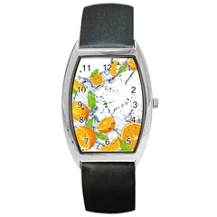Fruits Water Vegetables Food Barrel Style Metal Watch