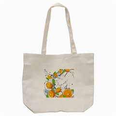 Fruits Water Vegetables Food Tote Bag (Cream)