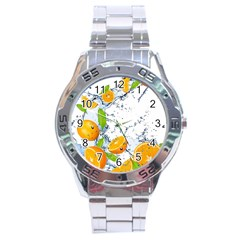 Fruits Water Vegetables Food Stainless Steel Analogue Watch