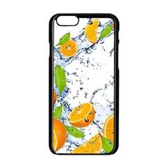 Fruits Water Vegetables Food Apple iPhone 6/6S Black Enamel Case