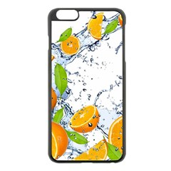 Fruits Water Vegetables Food Apple iPhone 6 Plus/6S Plus Black Enamel Case