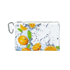 Fruits Water Vegetables Food Canvas Cosmetic Bag (S)