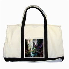 Fantastic World Fantasy Painting Two Tone Tote Bag