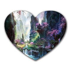 Fantastic World Fantasy Painting Heart Mousepads