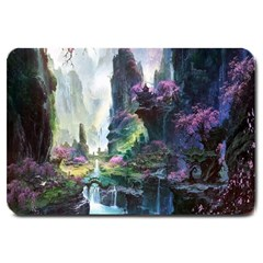 Fantastic World Fantasy Painting Large Doormat