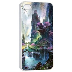 Fantastic World Fantasy Painting Apple iPhone 4/4s Seamless Case (White)