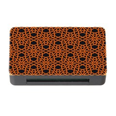 Triangle Knot Orange And Black Fabric Memory Card Reader with CF