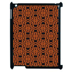 Triangle Knot Orange And Black Fabric Apple iPad 2 Case (Black)