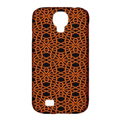 Triangle Knot Orange And Black Fabric Samsung Galaxy S4 Classic Hardshell Case (PC+Silicone)
