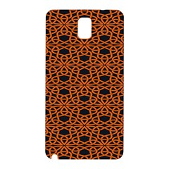 Triangle Knot Orange And Black Fabric Samsung Galaxy Note 3 N9005 Hardshell Back Case